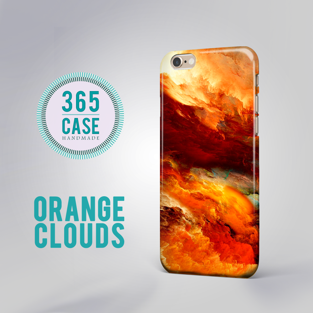 big sale 690df 0bfbc iPhone 6 Case Orange Clouds iPhone 6 Plus Case Red Yellow Sky Heaven Cloud  Texture Print iPhone 7S Case Samsung Galaxy Note Cases 00028