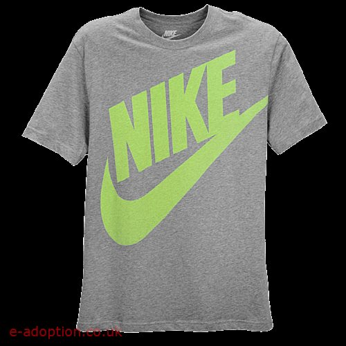 Nike oversized futura std t shirt 24223064 dark grey heathervolt men t shirt  small e693cfc28