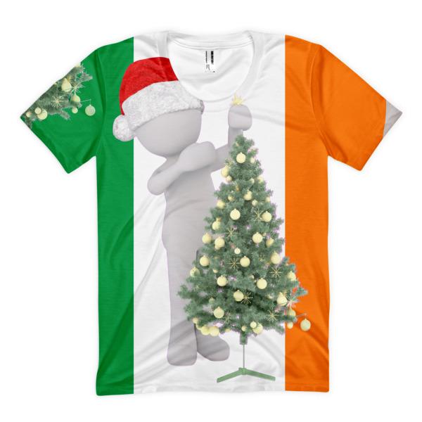 Irish Christmas.Irish Christmas Women S Sublimation T Shirt From Ugly Christmas