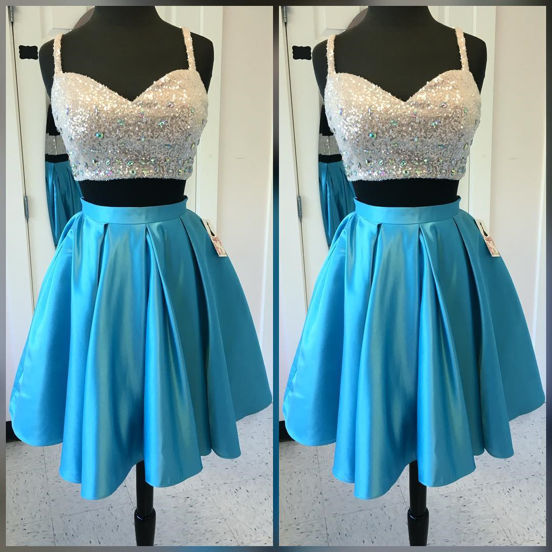 two piece prom dresses,women\'s party dresses,chic prom dress short ...