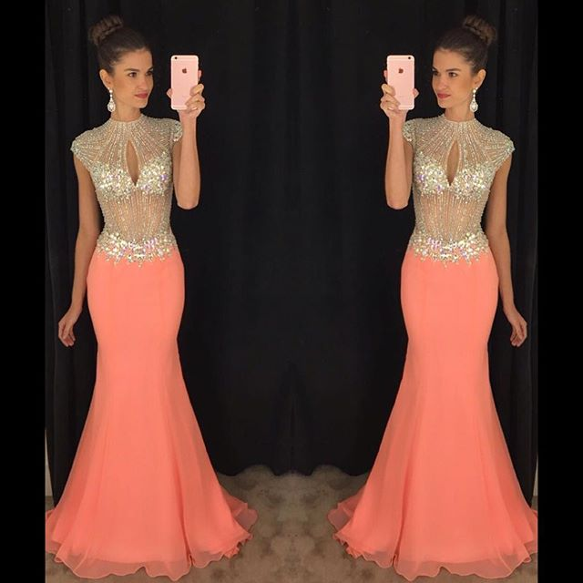 Mermaid Prom Dress 2017 Prom Dresses Evening Party Gown Formal Wear