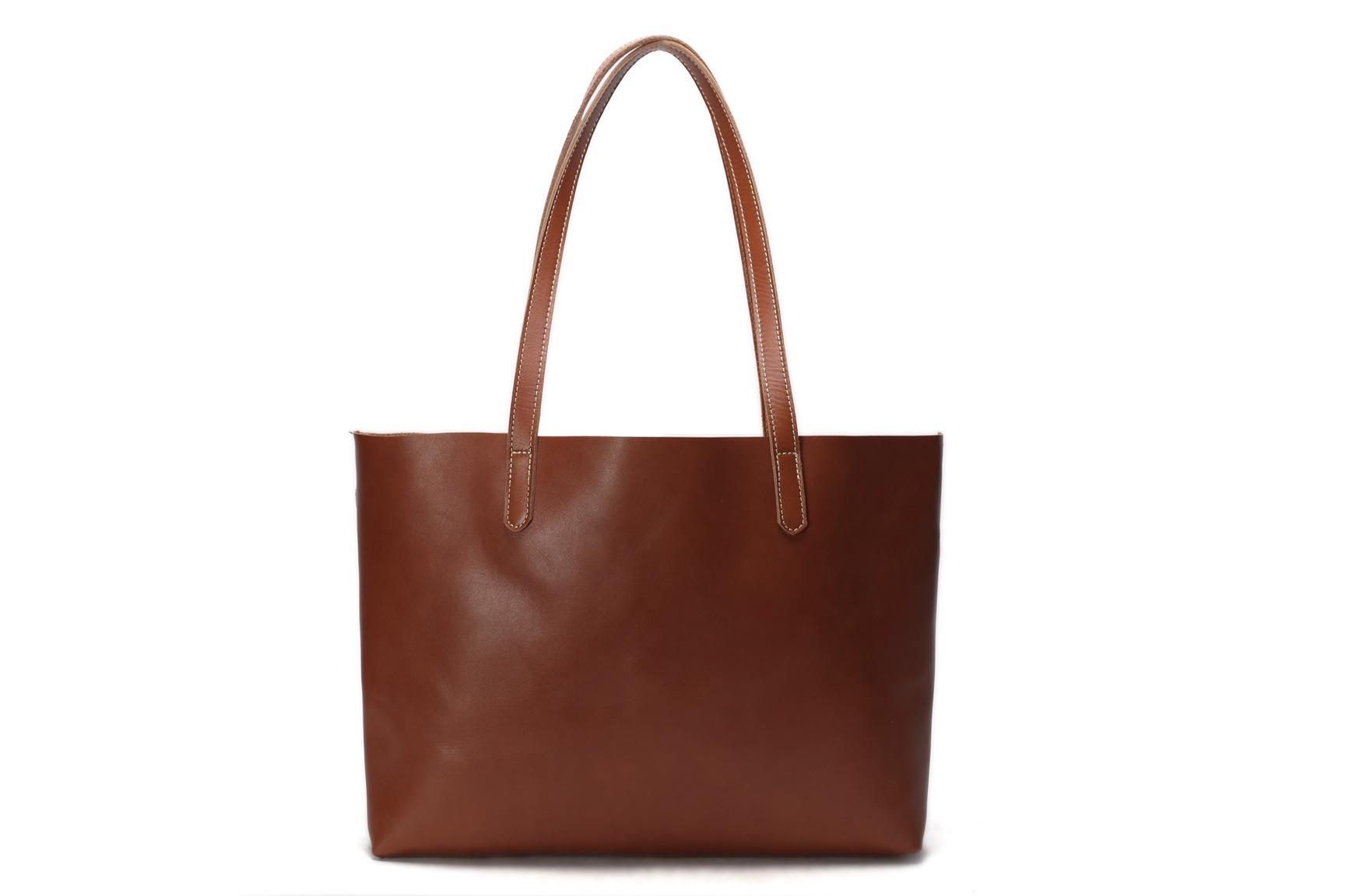 b85b80821b40 Vintage Genuine Leather Women Tote Bag   Shopping Bag   Shoulder Bag ZB01