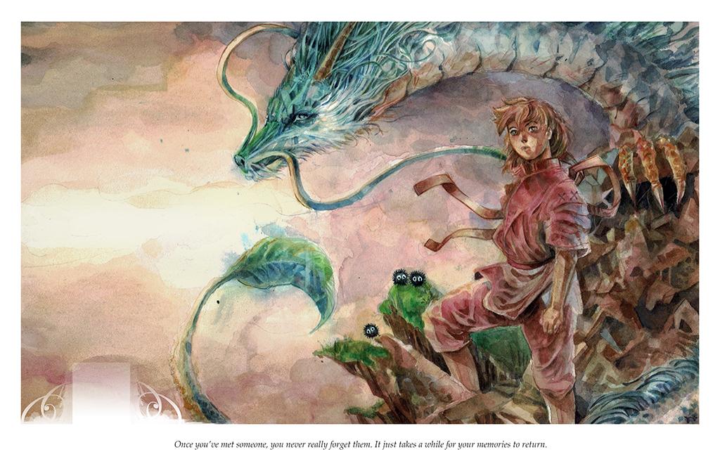 Spirited Away Studio Ghibli Watercolor Print Sold By Art Of Tony Moy On Storenvy