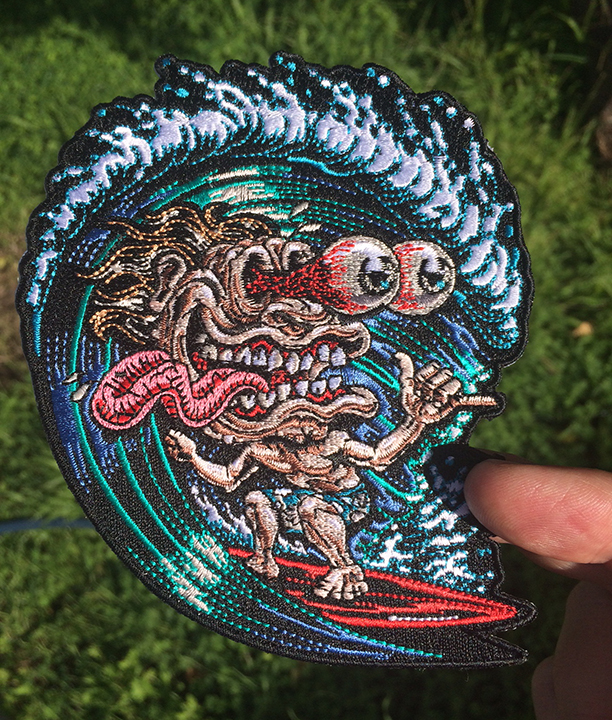 surf freak patch iron on ready embroidered color jimbo phillips webstore online store. Black Bedroom Furniture Sets. Home Design Ideas