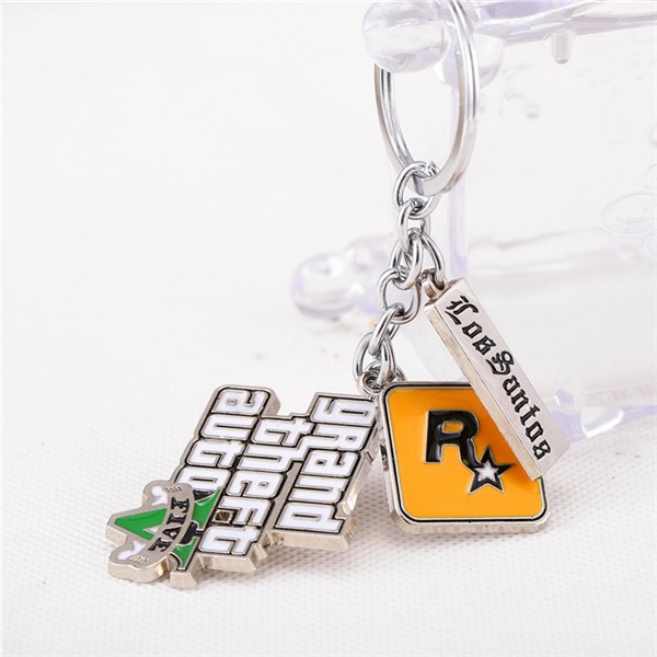 GTA 5 Game Keychain PS4 XBOX PC ROCKSTAR games Key chain fan ring holder  4 5cm from Jewelry Boutique Fashion Outle