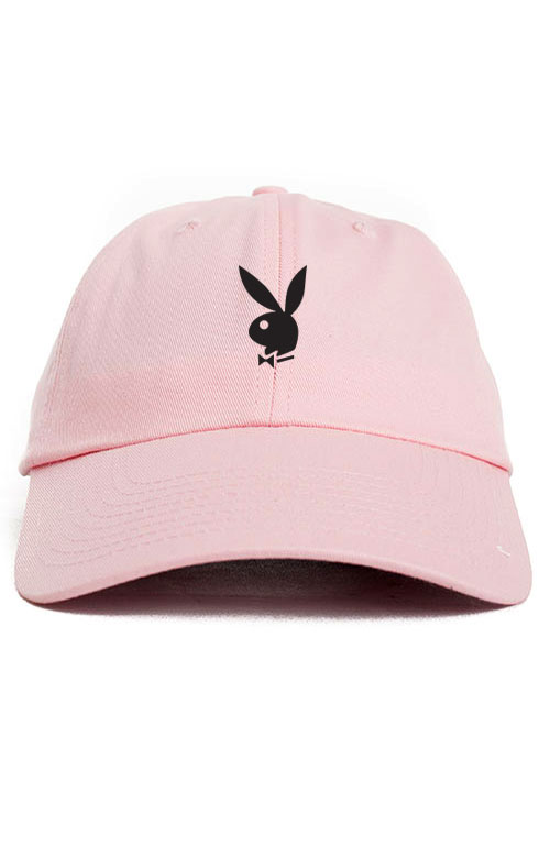 a80f14e703a8f Playboy Bunny Unstructured Baseball Dad Hat Cap New - Pink w  Black ...