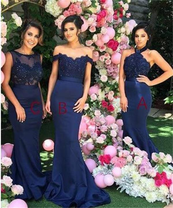 589fbfcc7fa Stylish Halter Bridesmaid Dress