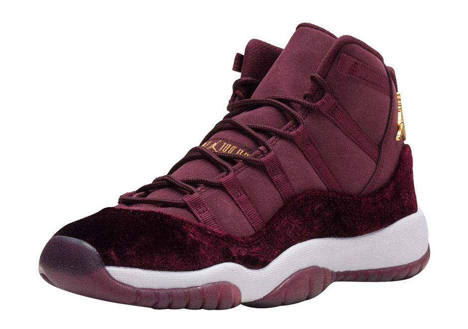 "79db1f37299 AIR JORDAN 11 ""HEIRESS"" Color: Night Maroon/Metallic Gold-Night ..."