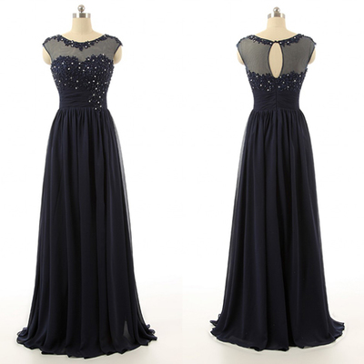 8578f3f6f91c Navy blue lace real photo long prom dresses,back o beaded evening dress prom ,
