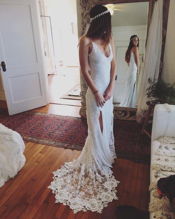 WD56 Beach Backless Wedding Dresses,Wedding Dress,Custom Made ...