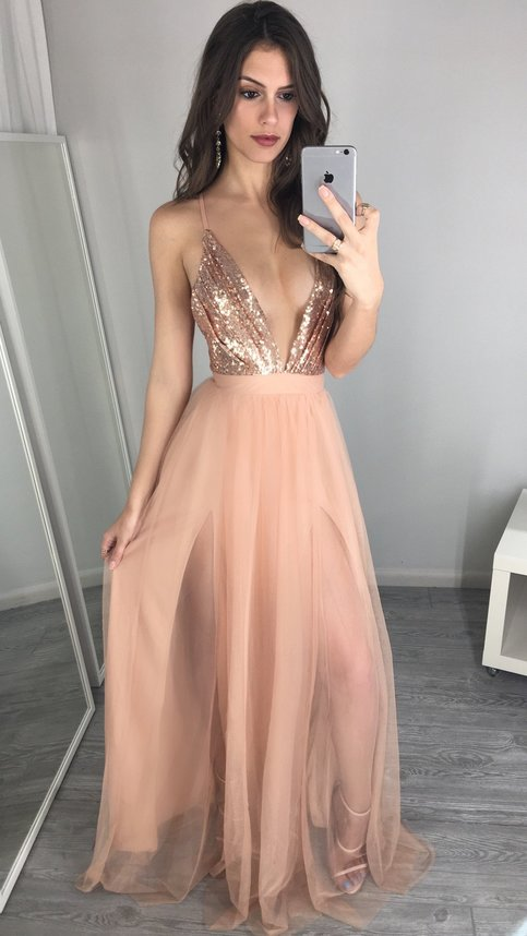 dress prom Sexy sequin long