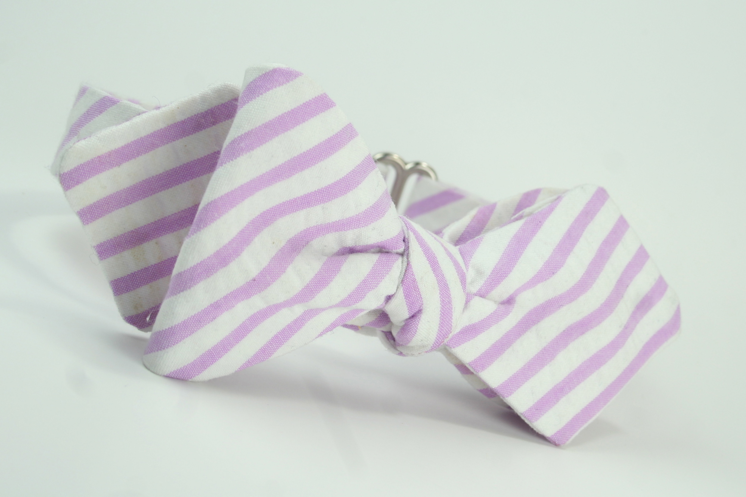 Lavender Seersucker Freestyle Bow tie created in our Retro ... - photo#18