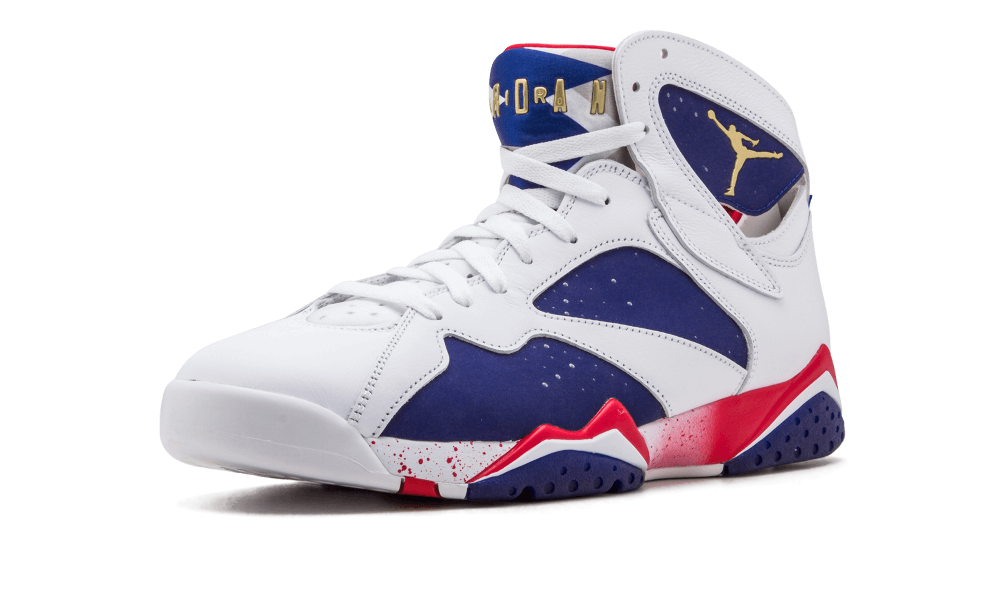 "huge discount 54cb7 e8c90 AIR JORDAN 7 ""OLYMPIC ALTERNATE"" Color: White/Metallic Gold Coin-Deep Royal  Blue-Fire Red-Lite Iron Ore from FreshnUp"
