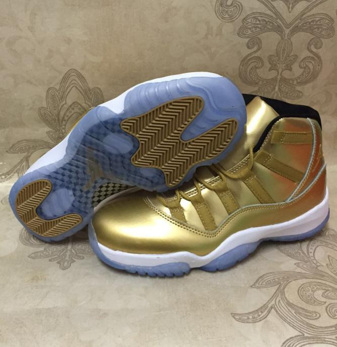 Gold air jordan 11 kawhi leonard original · 131814 g 1481008750050 small bb7f53938015