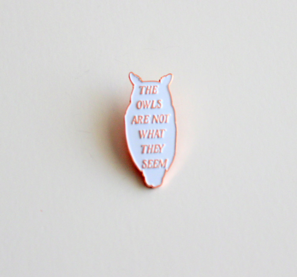 38mm//1.5 inch Twin Peaks The Owls Are Not What They Seem TV Button Pin Badge