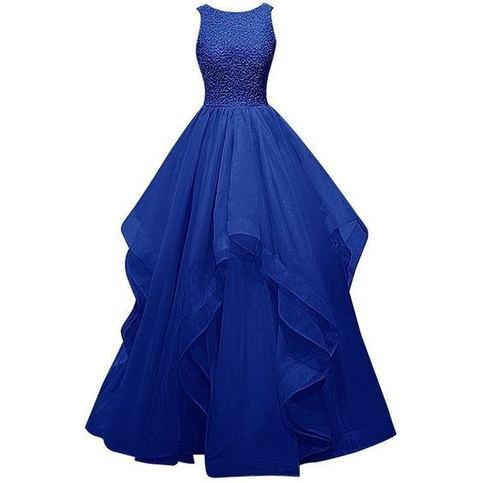 New Fashion Burgundy Prom Dress Charming Royal Blue Prom