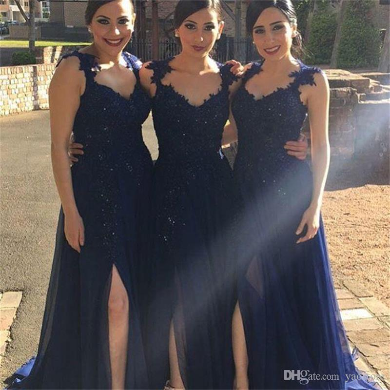Leg Slit Bridesmaid Dresses,2017 Bridesmaid Dress,High