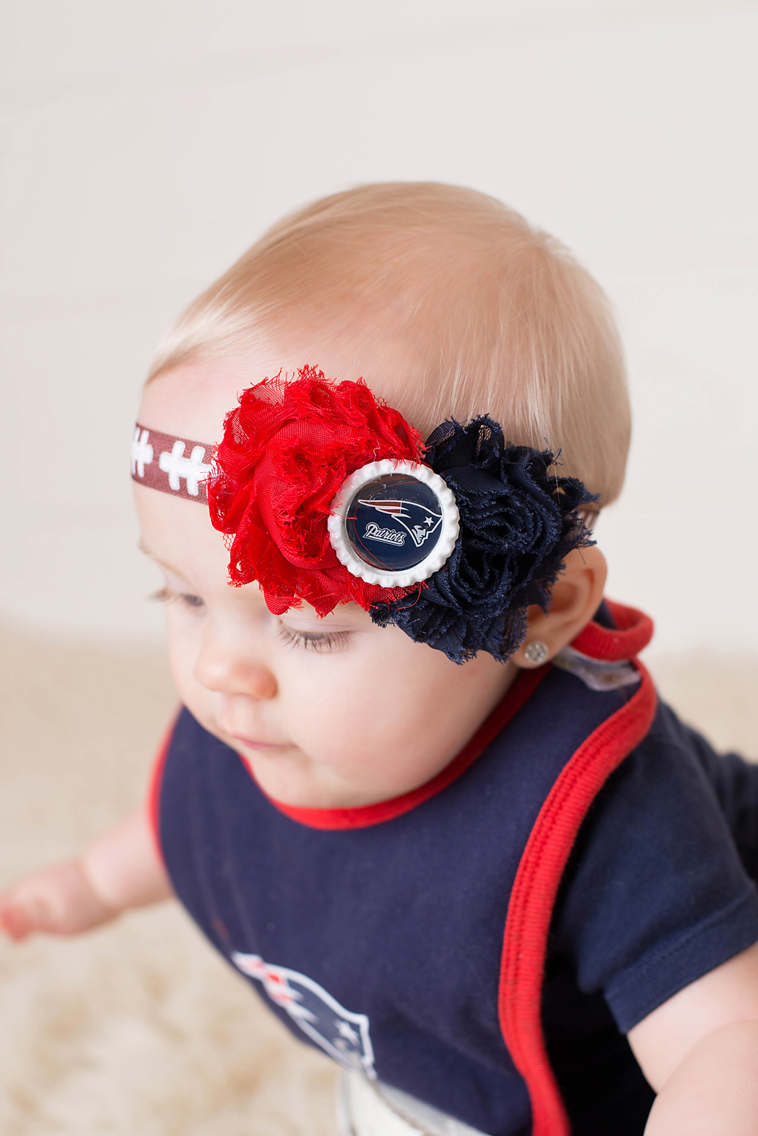 12d67b985049b Girls New England Patriots Headband