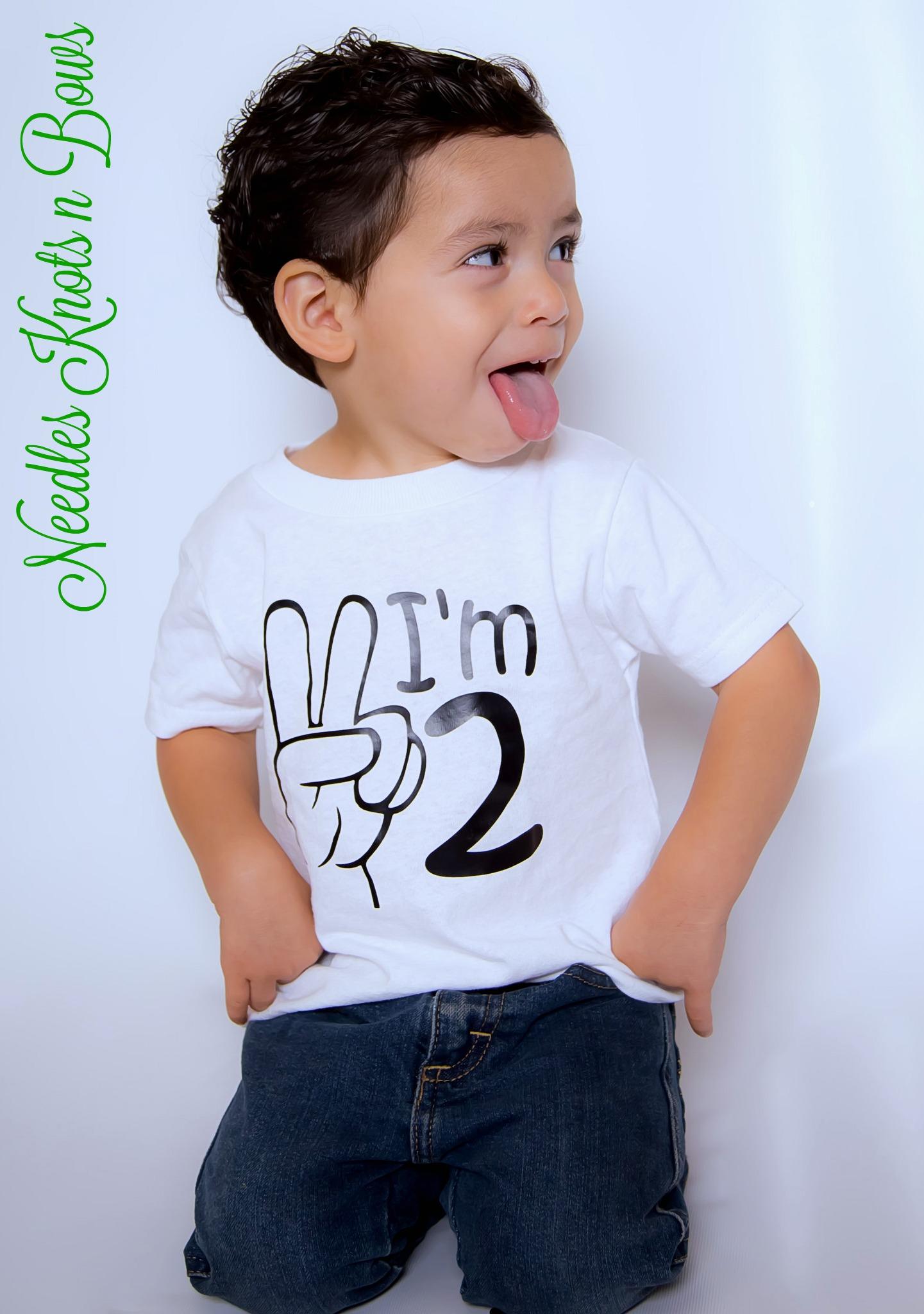 Boys Im 2 Tshirt Or Bodysuit Second 2nd Birthday