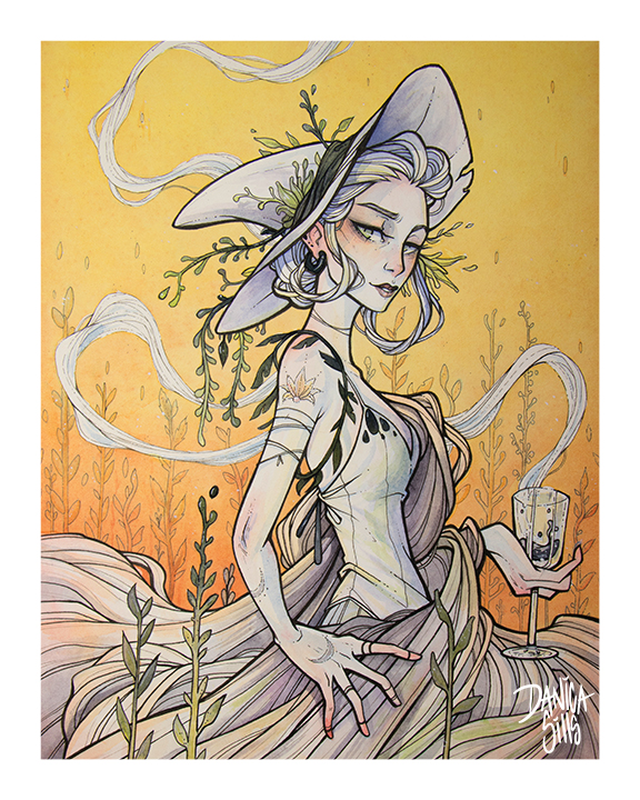 Spring Witch ♢ Art Print ♢ S + L · Danica Sills · Online Store ...
