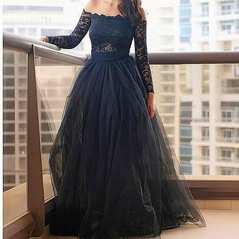 A360 Black Prom Dress,Prom dress,Modest Evening Gowns,Cheap Party ...