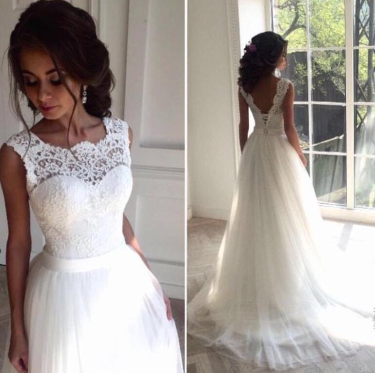 A410 Wedding Dressdelicate Lace V Back Wedding Gown Bridal Dress