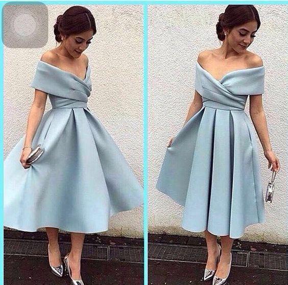 Elegant Prom Dress Knee Length Prom Dressesvintage Homecoming