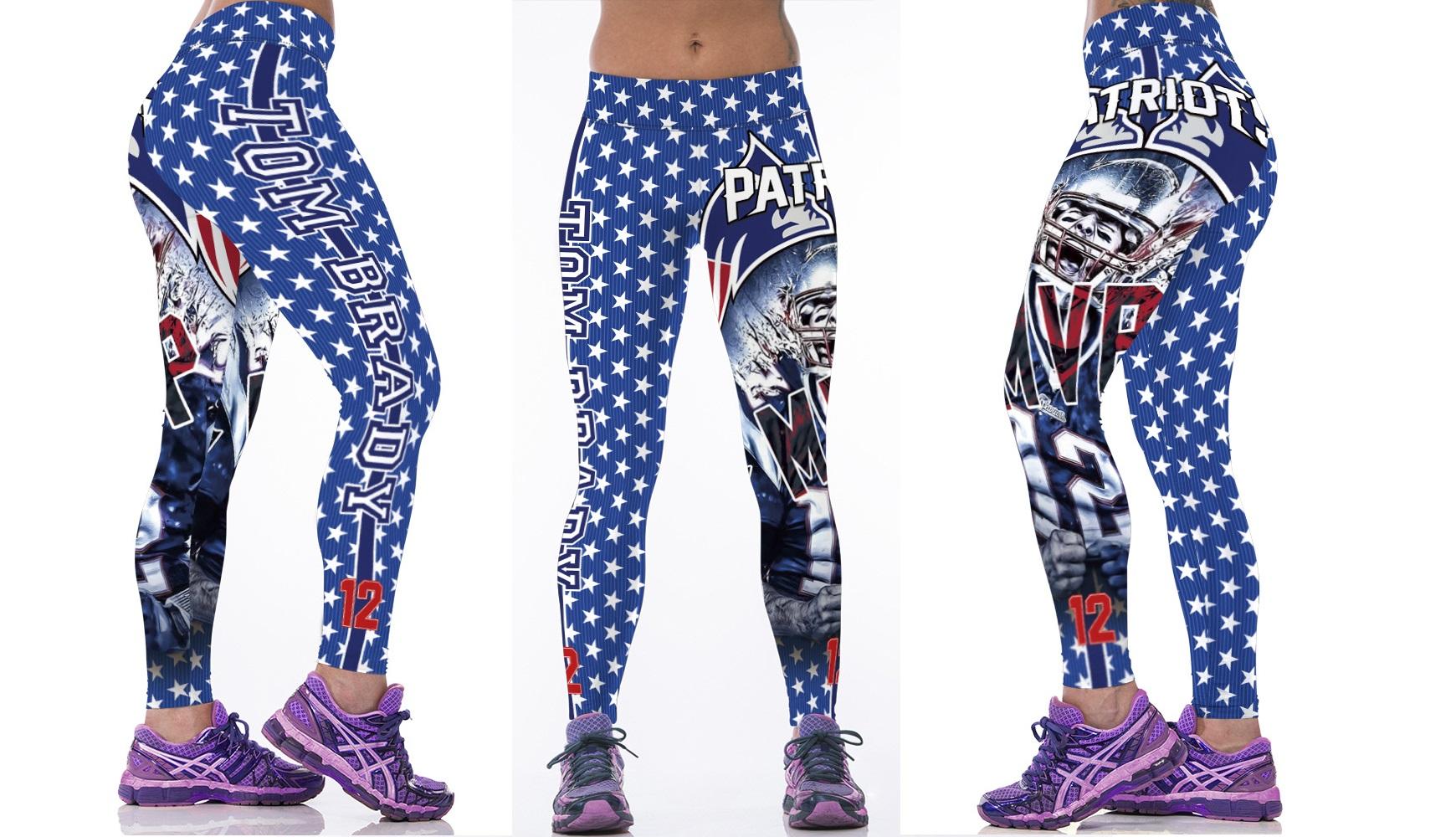 4176fe9a New England Patriots NFL Women Tom Brady Leggings Fitness Gym from  SportsMegas