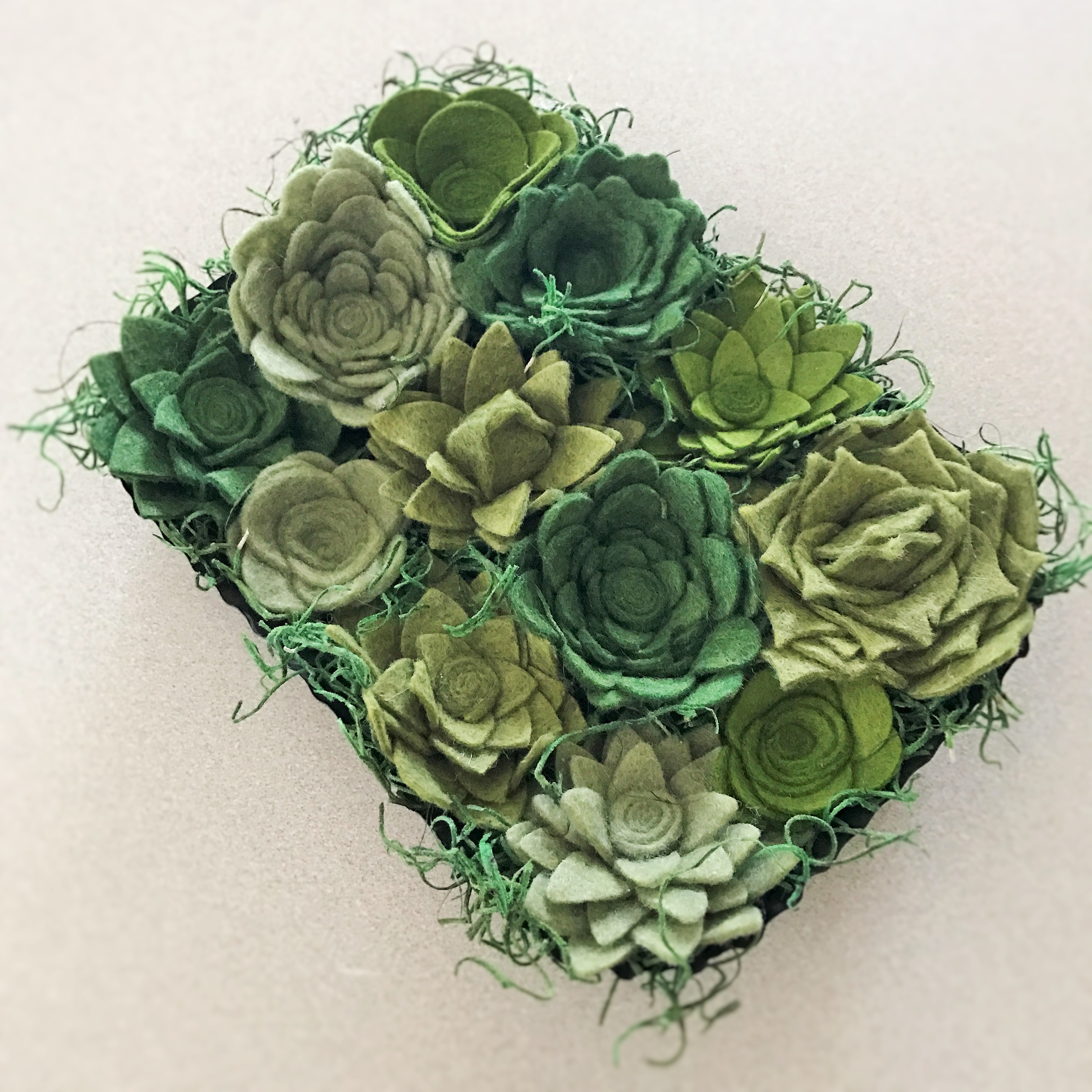 Felt Succulent Wall Box Sold By Humble Design Co On Storenvy