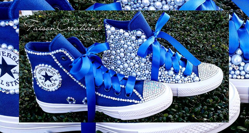 2b5ddc2e76602 Adult Custom Bling Converse (Size 4-9) from FaisonCreations