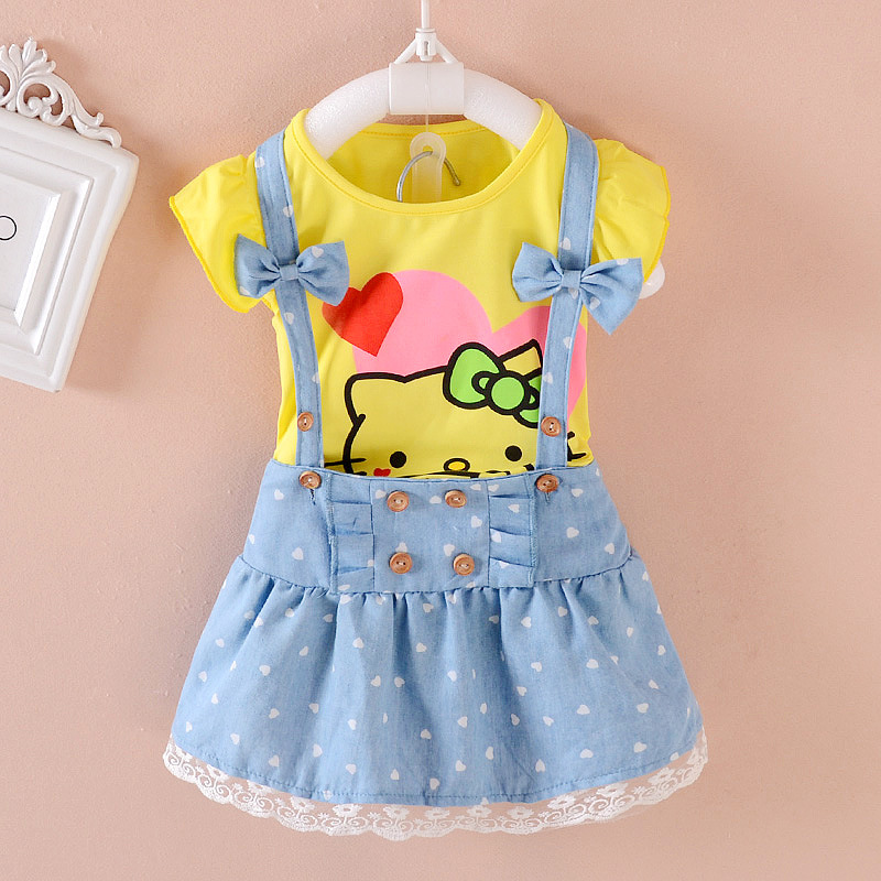 7a4fa6c1a FREE SHIPPING Girls Infant/Toddler Hello Kitty Mini Skirt With Print T ...