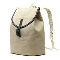 Envy This Collect. Karitco Cotton Canvas with Leather Casual Rucksack (Beige ) 2ff2fcf1788f3