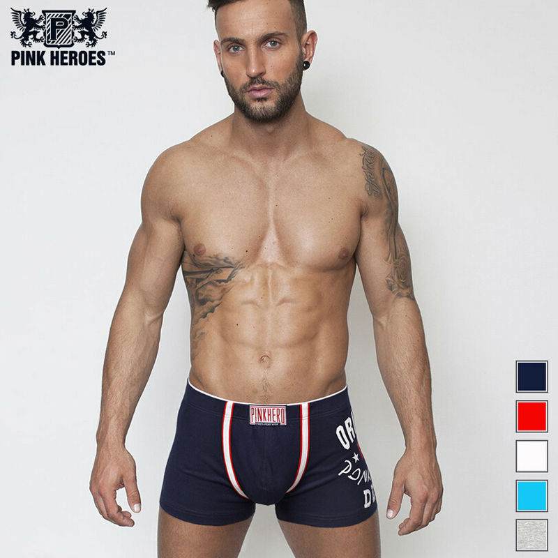 aa53e6739907 B34a pink heroes100 cotton men s underwear comfortable boutique panties  brand sexy male man boxer homme
