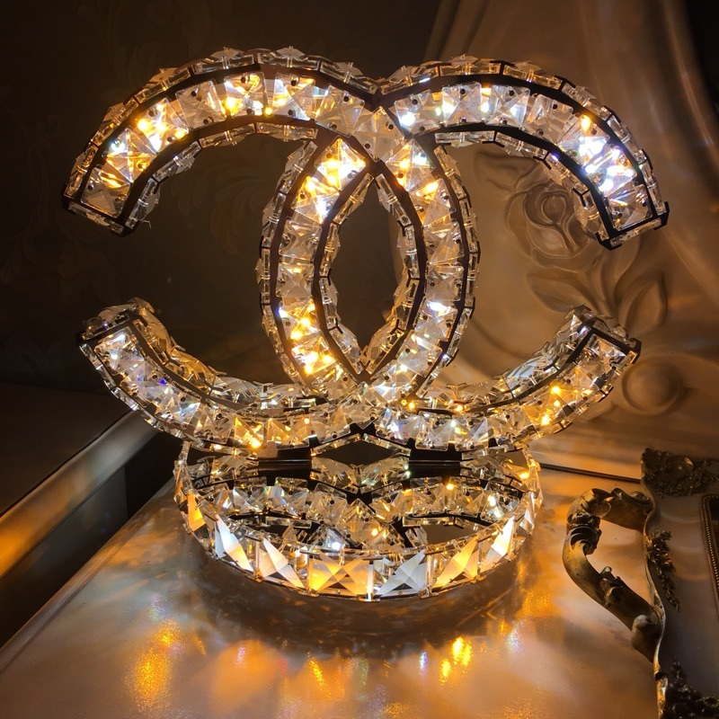 CC Chanel Crystal Bling Table Lamp - B on Storenvy