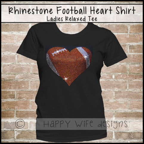 Football Mom Shirt Rhinestone Football Mom Shirt
