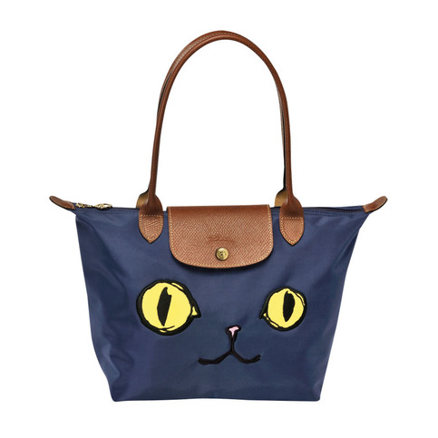 Authentic Longchamp Le Pliage Small Miaou Cat Tote Bag Navy Free Shipping  on Storenvy 0e3ab4a6d2117