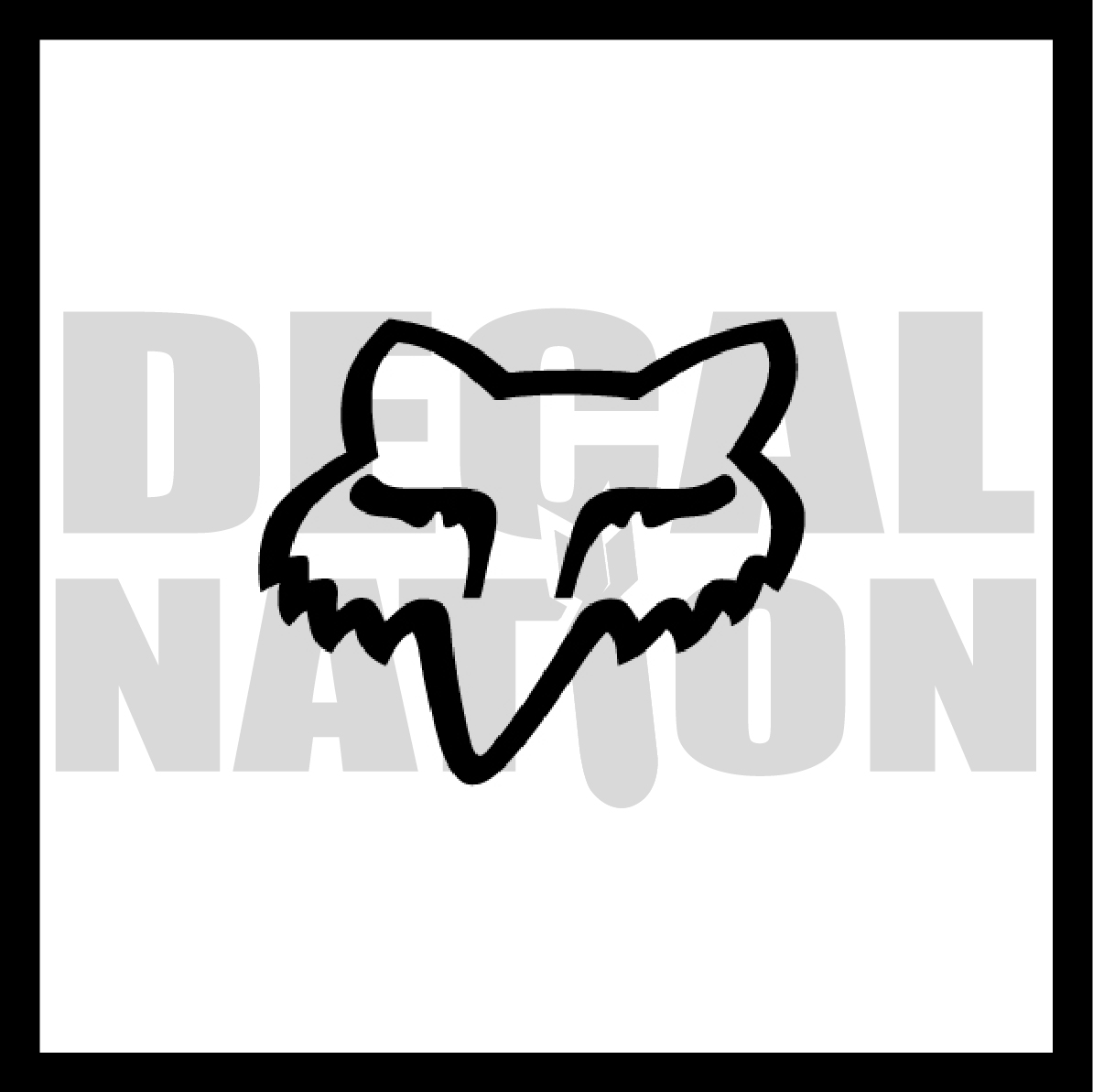 fox racing logo decal nation online store powered by storenvy