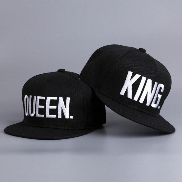 722b4fe9e6cd7 KING QUEEN Snapback Hat Couple Gifts on Storenvy