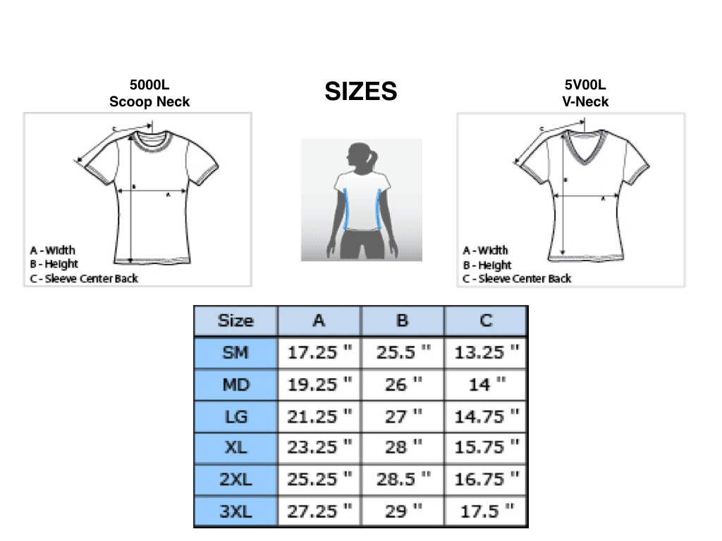Women S Size Chart Funpossible Online Store Powered By Storenvy