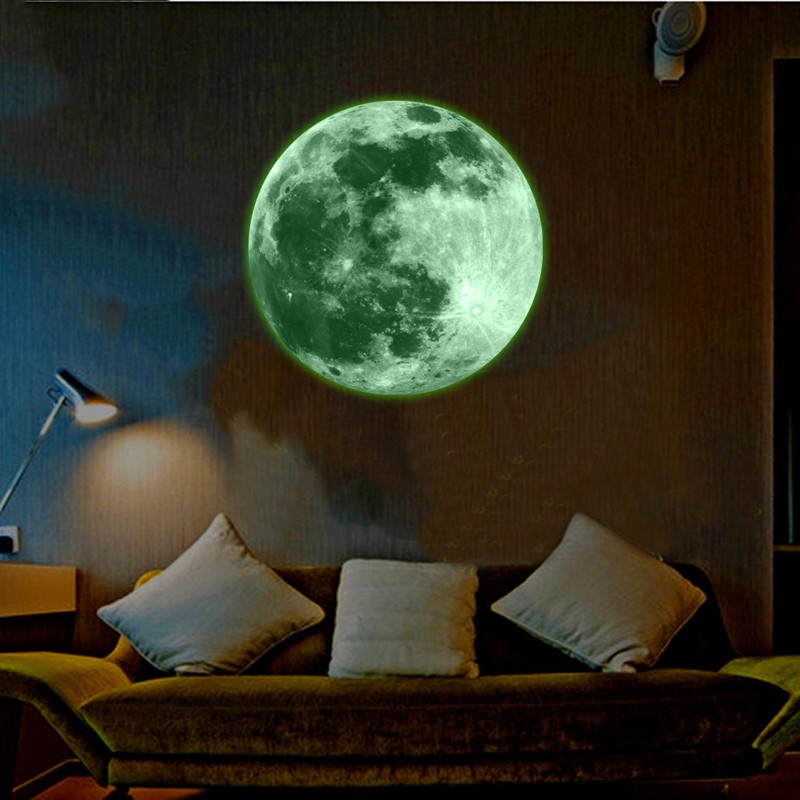 Glow In The Dark Moon Wall Mural On Storenvy