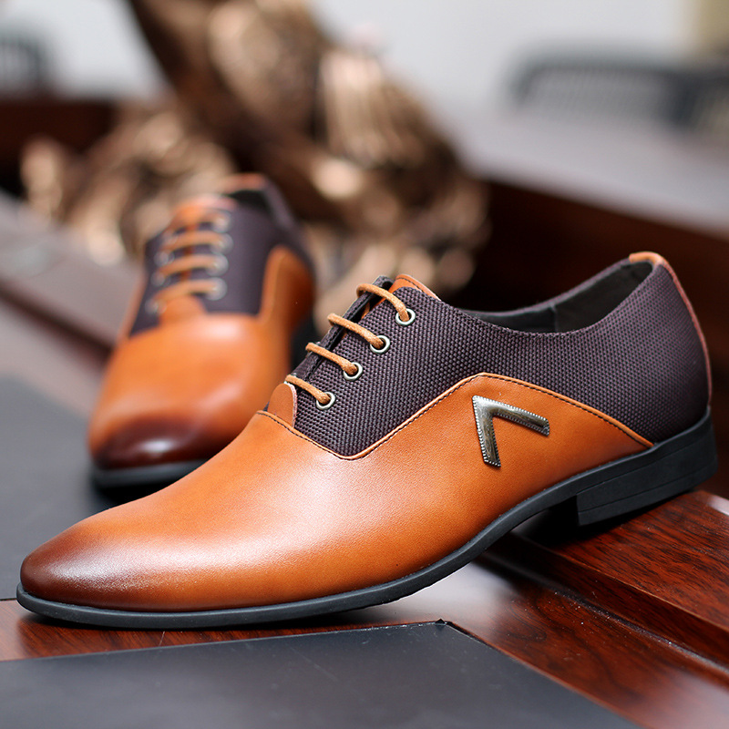 98a9ccce83b Genuine Leather Lace Up Mens Formal Dress Party Office Wedding Shoes on  Storenvy
