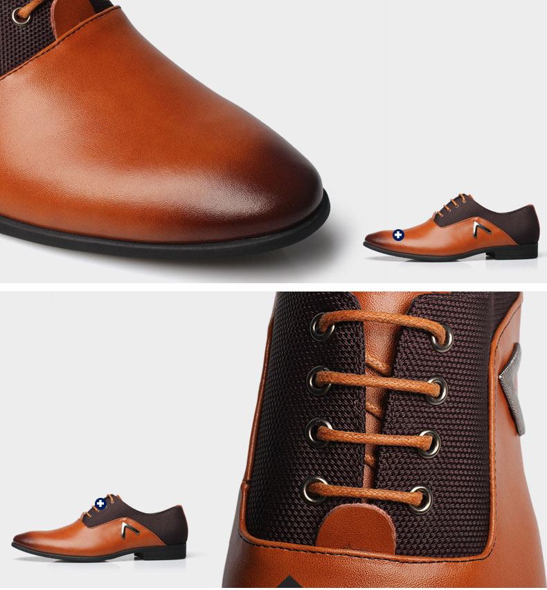 49b74a169f0 Genuine Leather Lace Up Mens Formal Dress Party Office Wedding Shoes ...