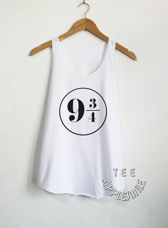 9306d4182e7256 Platform 9 3 4 Tank Top Harry Potter shirt Clothing T shirt Women shirts  Size