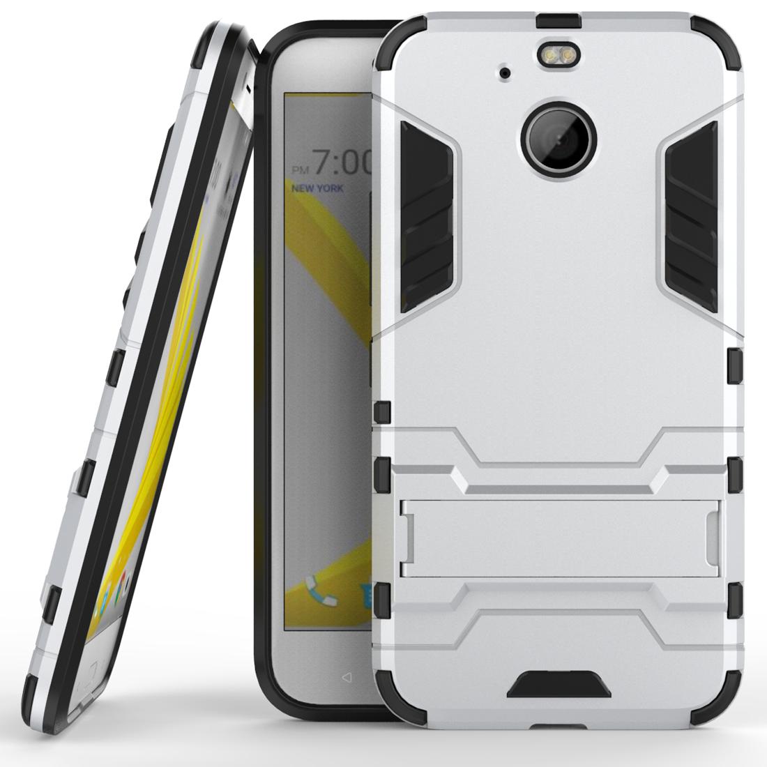 new arrivals e401c d513e Tough Armor Kickstand Combo Protective Cover Cases For HTC Bolt / HTC 10  EVO - Silver