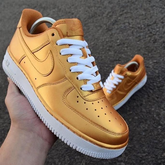 timeless design 10b91 470e4 Gold & White Air Force One AF1 Low from SneakerSuperShop