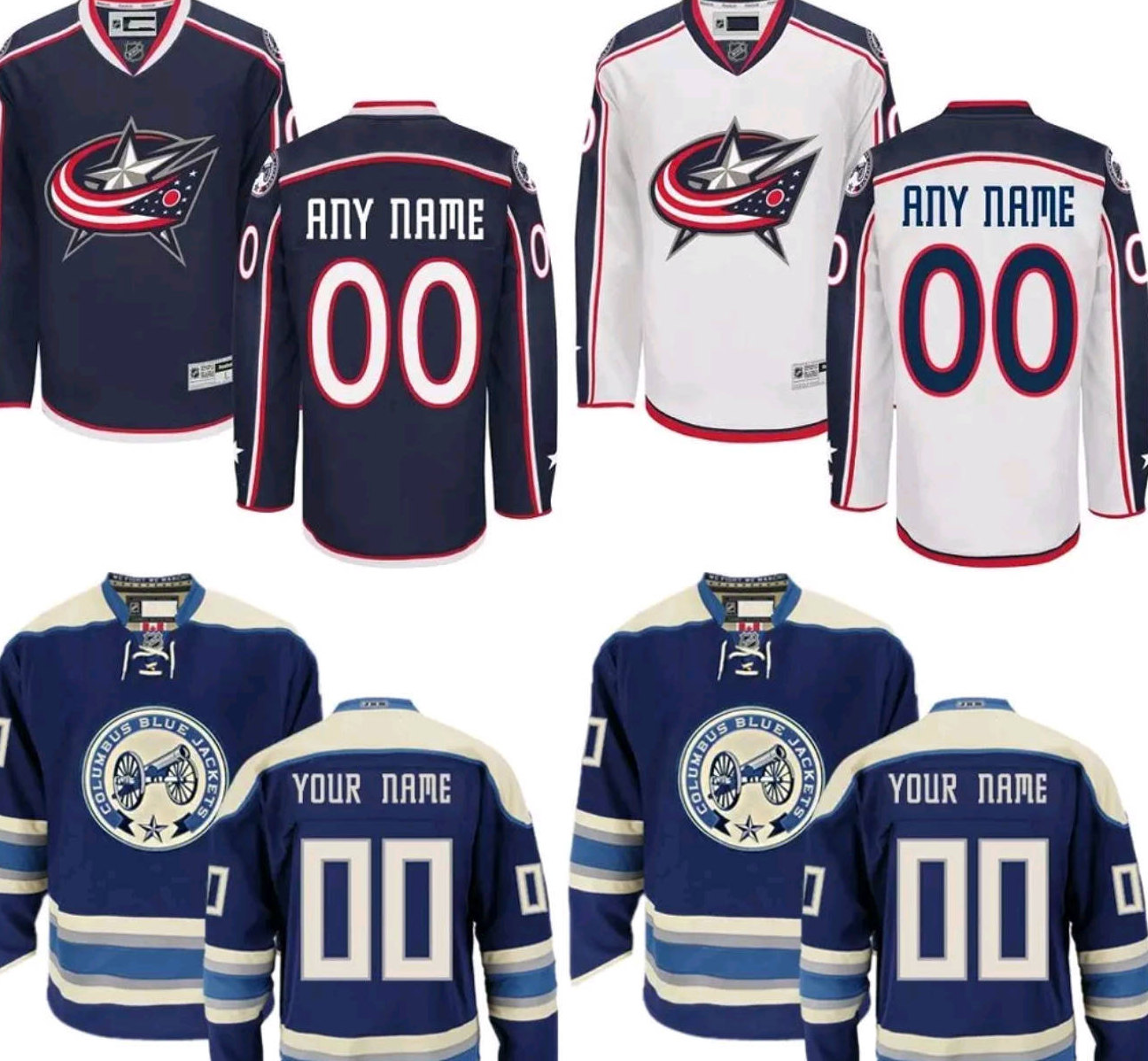 online store 23671 81013 Columbus Blue Jackets Customizable Mens/Women/Youth Jersey M-XXXL Jerseys  Come Plain or Customized With Any Name/Number, Including Yours sold by ...