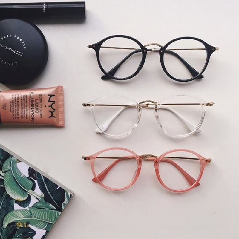 e82758a18 Round fleck tortoise frame ulzzang vintage metal brief harajuku sun glasses  lovers circle sunglasses cheap eyeglasses