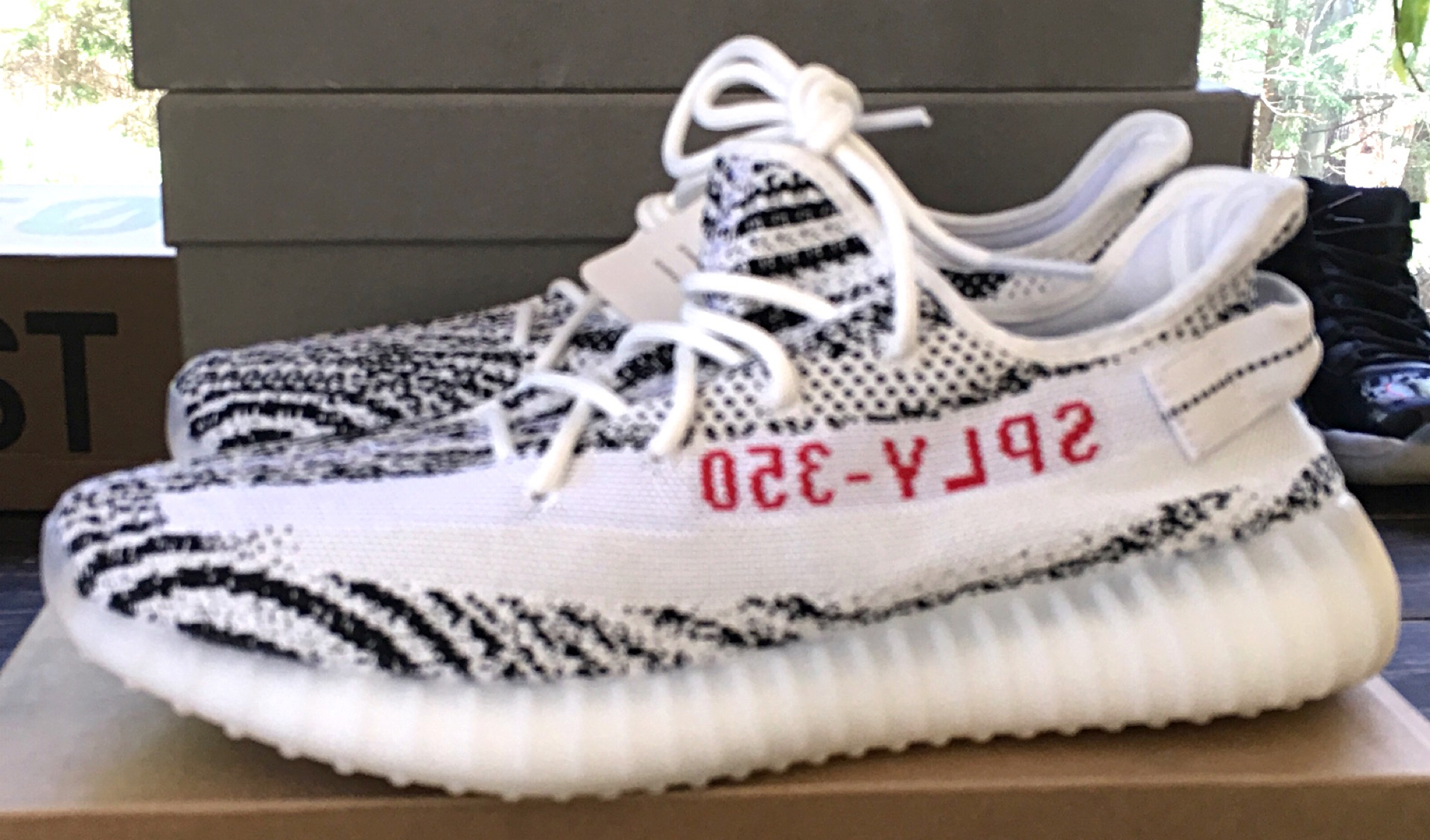 5d3f2152eb5d Adidas Kanye West Yeezy 350 V2 Zebra CP9654 White Black Red Size 10 on  Storenvy