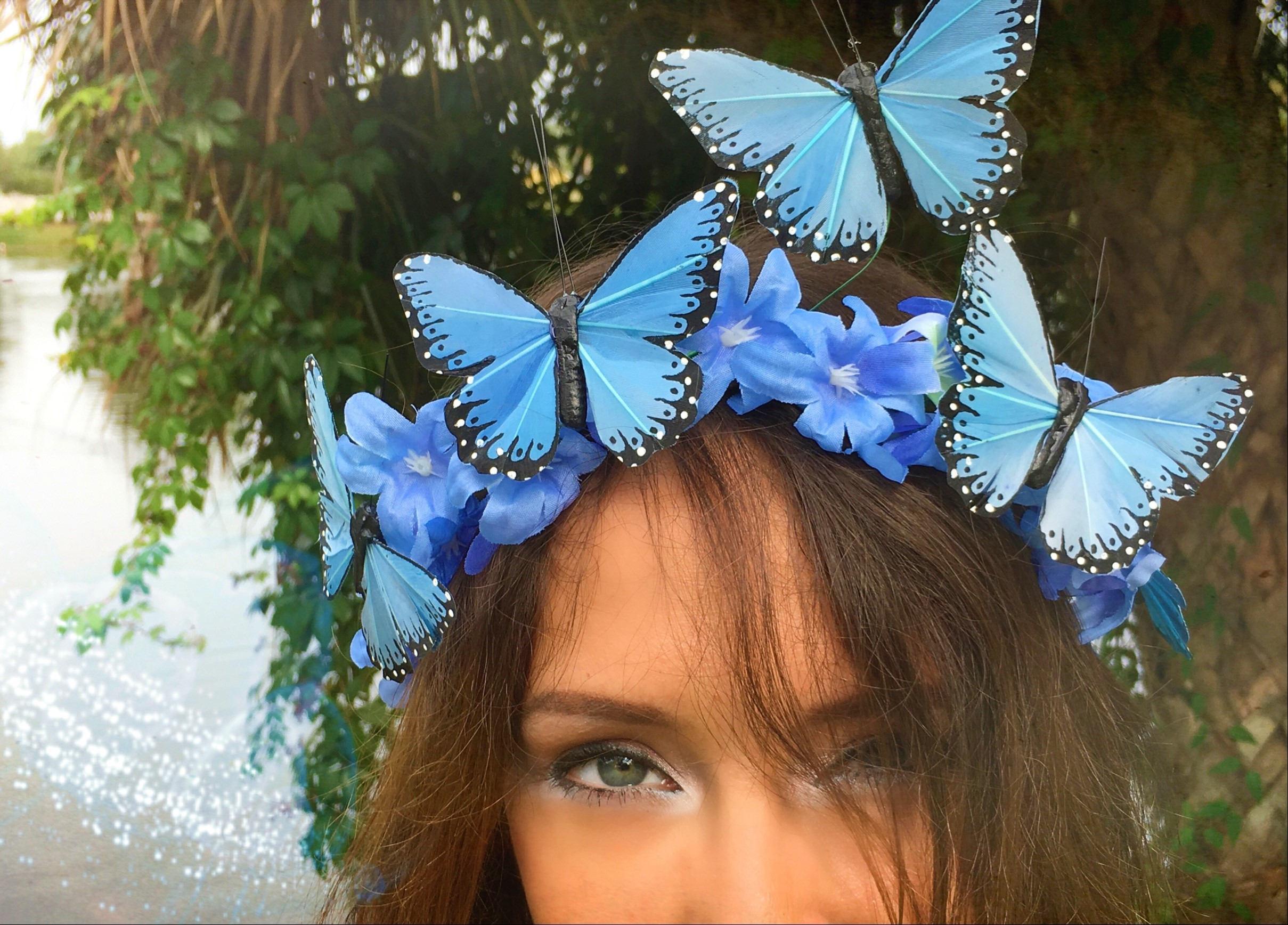 Blue Dream - Monarch Butterfly EDM Festival Headband, Butterfly Crown,  Festival hair decor, Boho headband, Butterfly Fascinator, Blue Crown from  Nifty