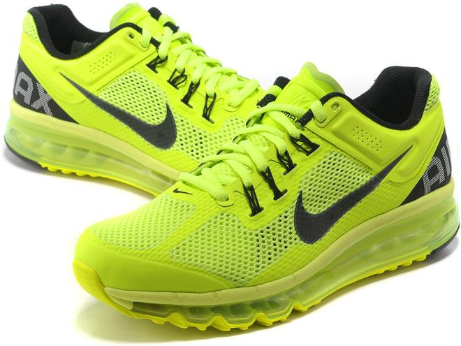 acheter populaire aae3e 8b8d0 Nike Air Max 2013 Mens Running Shoe Fluorescence Green Black sold by  giryhmfvuh